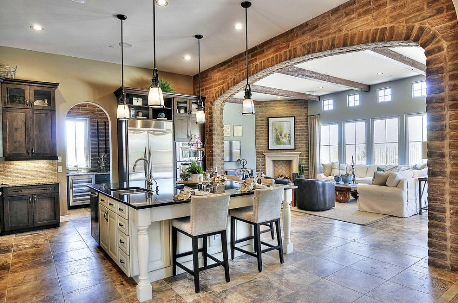 Дизайн кухни-гостинной