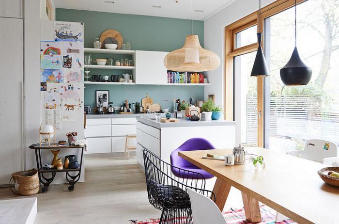 Дизайн белой кухни, фото пример